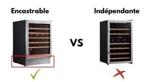 cave a vin encastrable vs independante
